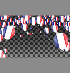 France flags and france balloons garland with vector