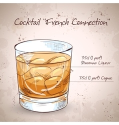 French Connection Cocktail vector image