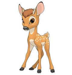 Funny cute baby deer cute vector