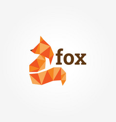 geometric fox logo sign symbol icon vector image