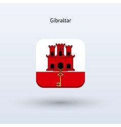 Gibraltar flag icon vector