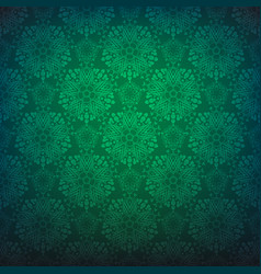 green repeating pattern vector image