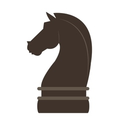 horse chess piece icon vector image