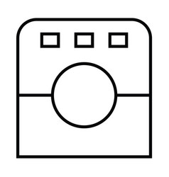icon with outline and line style vector image