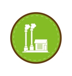 Industrial factory buiding pollution symbol green vector