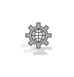 internet setting web icon flat line filled gray vector image