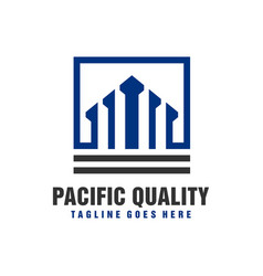 investment business building logo vector image