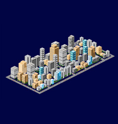 isometric downtown urban areas vector image
