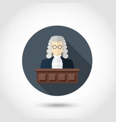 Judge flat icon vector