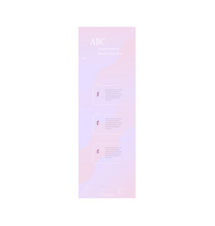 Landing page template in trendy pastel colors with vector