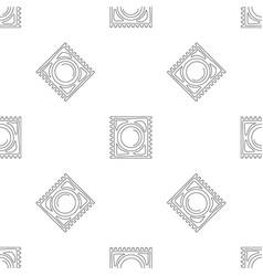 Latex condom pattern seamless vector