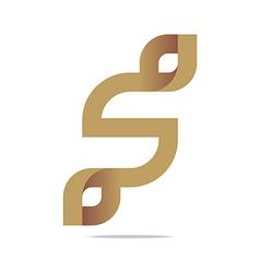 Logo Letter Infinity Alphabet Lettering S Design vector image