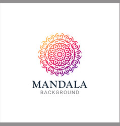 luxurious gradient mandala background vector image