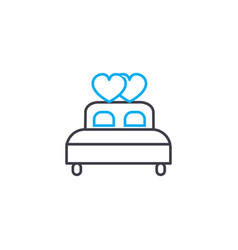 marital bed linear icon concept marital bed line vector image