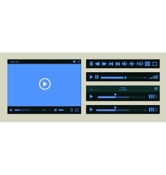 Media player template vector image