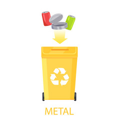 Metal waste and container vector
