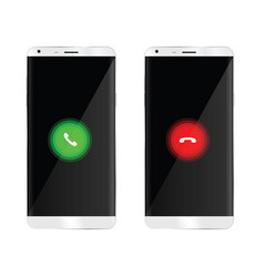 Mobile phone with telephone handset vector