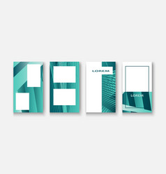 Modern business geometric template banner for vector