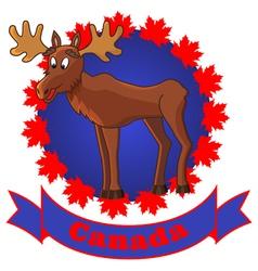 Moose and canada vector