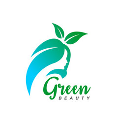 natural beauty salon logo vector image
