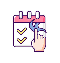 No booking required rgb color icon vector