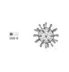 Novel coronavirus covid-2019 on a white background vector