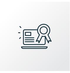 Page quality icon line symbol premium quality vector