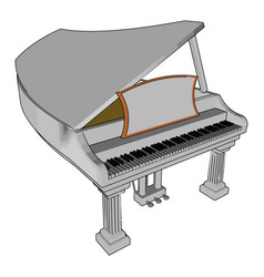 Piano and its parts or color vector