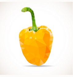 polygonal orange pepper icon vector image