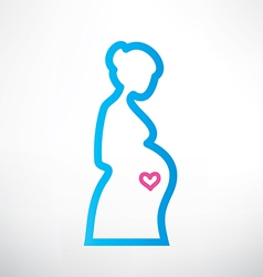 pregnant woman symboloutlined sketch vector image