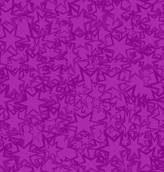 Purple seamless star pattern background vector