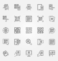 qr code icons set collection of quick vector image