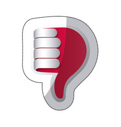 red hand making the bad sign icon vector image