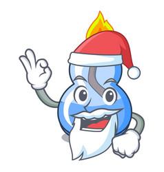 Santa alcohol burner mascot cartoon vector