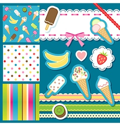 Scrap icecream vector