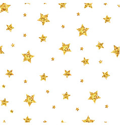 seamless pattern background with gold stars vector image