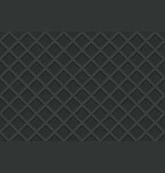 Seamless pattern of black waffle vector