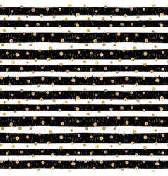 Seamless pattern with gold dots vector
