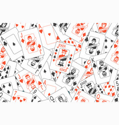 Seamless pattern with playing cards vector