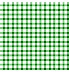 Seamless retro white-green square tablecloth vector image vector image