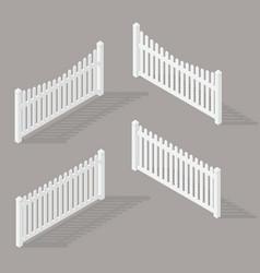 set wooden fence vector image