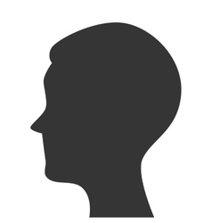 silhouette head person profile isolated vector image