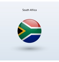South Africa round flag vector