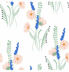 Spring bouquets on white background vector