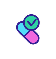 time to take medicine icon isolated vector image
