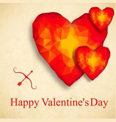 valentines polygonal background vector image