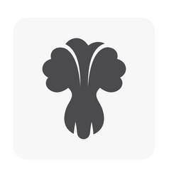 vegetable icon black vector image