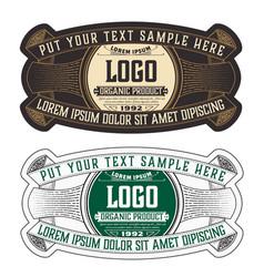 vintage organic jam label with floral elements vector image