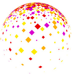 White ball with colorful rhombs vector