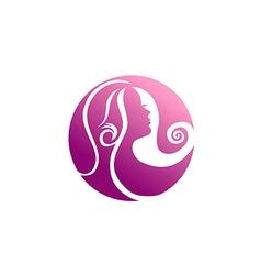 woman beauty abstract hair logo vector image